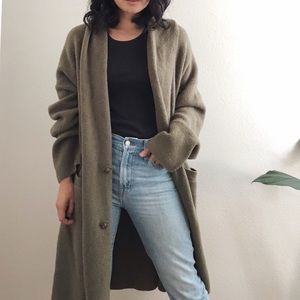 J. Crew Double Breasted Cardigan Coat - Olive